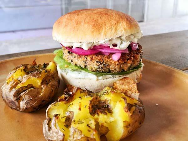 vegane Burger -Kochkurs - Kurkuma Kochschule
